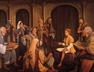 Young Jesus in Temple